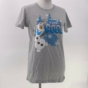 disney frozen tshirt olaf mr cool sz S Small